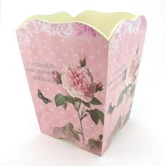 Vintage Decorative Romantic Trashcan, Wastebasket or Trash Receptacle ~ W01 Retro Chic Rose Colored Wooden Waste Basket Knobs & More Home Decor http://www.amazon.com/dp/B00BMACAC8/ref=cm_sw_r_pi_dp_FN4fub0FY3N4E