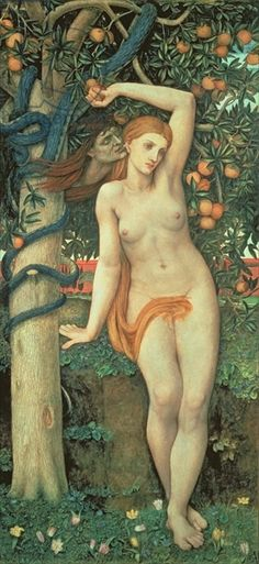 Eve Tempted, c.1877 (tempera on panel) Creator Stanhope, John Roddam Spencer (1829-1908)