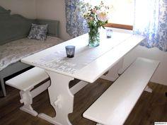 Natural Wood, Dining Bench, Corner Desk, The Unit, Cottage Decorating, Interior, Table, Cabin Fever, Villas