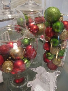 The candy might have to come out of the jars I have like this for Christmas this year
