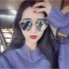 6787abe832 2017 Women Designer Fashion Cat Eye Sunglasses Rose Gold Mirror Glasses For  Female Glasses-in Sunglasses from Women s Clothing   Accessories on ...