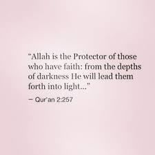 Allah is the protector of those who have faith.