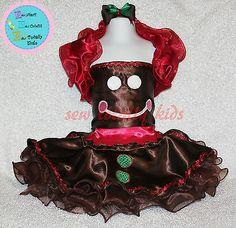 Custom Christmas Pageant Wear, OOC Wear, Christmas Dress, Gingerbread size 0-8