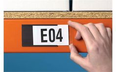Storage Design Limited - Warehouse Environment - Labelling & Signage - Racking Labels - Self-Adhesive & Magnetic Label Holders
