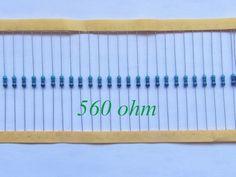 100pcs 1/4W Metal Film Resistor 560 ohm 560R 1% Tolerance Precision RoHS Lead Free In Stock #Affiliate
