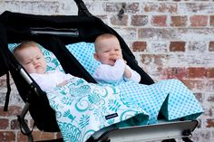 Turquoise gorgeousness  pram liners and matching blankets