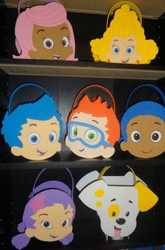 Cute for table decorations or party bags. Etsy listing at http://www.etsy.com/listing/125523102/bubble-guppies-inspired-party-bags