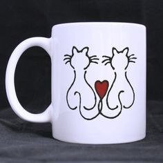 Daniellestore New Personalised Custom Printed Love cats Tea Cup Coffee Mug White Mug YOUR IMAGE PHOTO TEXT GIFT -- Review more details here (This is an amazon affiliate link. I may earn commission from it)