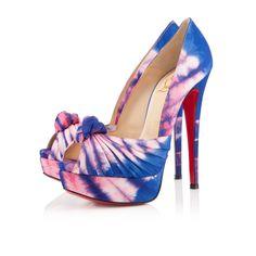 Super Sweet Blue and Pink Peep Toe heels #pumps #heels #highheels     http://www.cheap-christianlouboutinssale.co.uk/