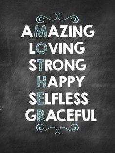 This describes who Lily and Bella's mother is.  I would be proud and honored for you to be the mother of my children baby...XOXO