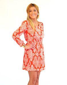 Paisley for Two Orange Printed Dress - Lotus Boutique LOVE! @Laura Davis