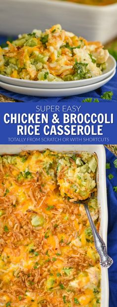Low Carb Recipes To The Prism Weight Reduction Program This Chicken Broccoli Rice Casserole Is Ultimate Comfort Food. With Easy Ingredients And The Ability To Make It Ahead, This Chicken Broccoli And Rice Casserole Will Become Part Of The Meal Rotation. Chicken Cheese Rice Casserole, Chicken Broccoli Cheese, Broccoli Chicken Cheese Casserole, Broccoli And Rice, Easy Broccoli Casserole, Riced Broccoli Recipes, Easy Casserole Recipes, Casserole Dishes, Easy Chicken And Rice