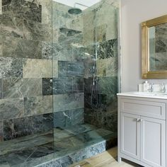 IKEA Shower Room Ideas - Check out our shower room ideas and design inspiration, whether you have want a gorgeous country shower room or a stunning attic shower room. Attic Shower, Shower Floor, Walk In Shower, Modern Bathroom, Small Bathroom, Shower Bathroom, Shower Rooms, Downstairs Bathroom, Marble Bathrooms