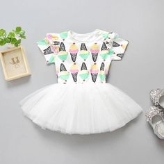 5ab0059653030 Cheap kids party clothes, Buy Quality ruffle tutu dress directly from China girls  dress Suppliers: Summer Baby Girls Dress Icecream Princess Dress Lace ...