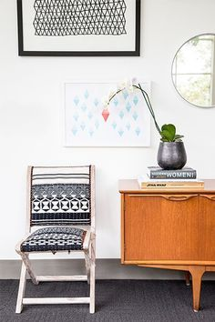 """An Office Revamp So Amazing You'll Want To Redo Yours ASAP #refinery29  http://www.refinery29.com/homepolish/5#slide3  Of K, Heidi says, """"She was a dream client because she was totally willing to stay the course and wait for the right thing to come."""""""