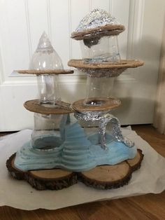 Christine Grandt driftwood art maritime gifts miniatures sculptures made of driftwood for the wall or to put down Mini Fairy Garden, Fairy Garden Houses, Clay Fairy House, Clay Houses, Miniature Houses, Fairy Furniture, Miniature Furniture, Fairy Crafts, Clay Fairies