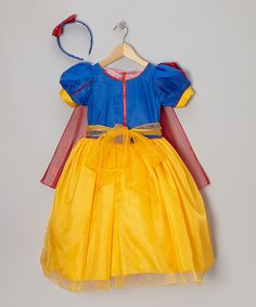 Another great find on zulily! Blue & Yellow Princess Dress-Up Set - Infant, Toddler & Girls by Bijan Kids zulilyfinds - The Best of Diy Ideas Cool Halloween Costumes, Diy Costumes, Costume Ideas, Princess Dress Up, Toddler Girls, Infant Toddler, Layered Skirt, Blue Yellow, Yellow Fever