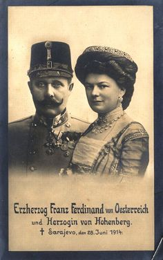 Posters in Sarajevo about the visit of Franz Ferdinand and his wife, Bosnia and Herezgovina