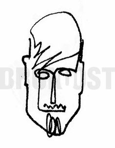 BRUNO OST | One-line drawing inspired by Picasso. | #28 Man head. | October challenge #brunoost #illustration #ilustracao #portfolio