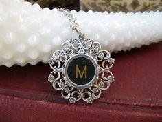 Typewriter necklace from IvieRidge on Etsy.