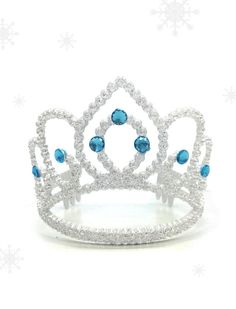 Frozen Glitter Snowy White Crown Frozen Translucent by DazzleLand, NT$75.00