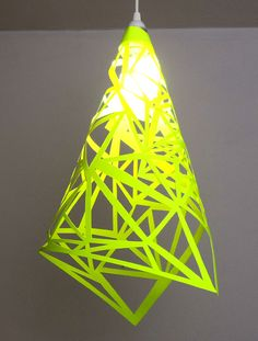 Neon Papercut Lamp | 27 Neon DIYs That Pack A Punch