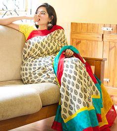 Matka Silk Sarees - Multi Coloured Matka Silk Saree By Rohinie PC 19948 - Thumbnail