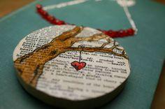Hand #Illustrated #Pendant #Necklace by SticksAndTomes #handmade #thecraftstar $20.00