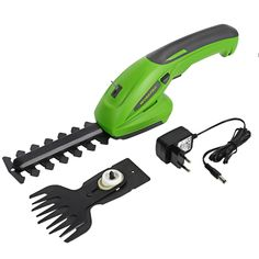 WORKPRO Electric Trimmer 2 in 1 Lithium-ion Cordless Garden Tools Hedge Trimmer Rechargeable Hedge Trimmers for Grass Grass Cutter, Lawn And Garden, Home And Garden, Garden Grass, Garden Shop, Garden Power Tools, Lame, Pruning Shears, Home