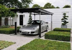 Park your car in the carport then it's lowered underground.