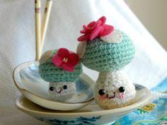Crochet mushrooms #mine #amigurumi #crochet