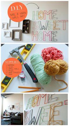 D.I.Y. / Nail and yarn wall art.