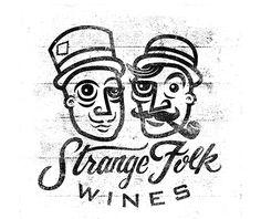 Strange Folk Wines - Logo by Conrad Garner, via Behance