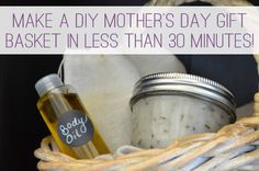 Make a DIY Mothers Day Gift Basket in Less Than 30 Minutes! at lifeyourway.net