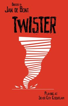 History project: choose a movie and make a new poster for it based on the style of Saul Bass. I chose Jan de Bont's Twister. Saul Bass Logos, Saul Bass Posters, Film Posters, Paul Rand Logos, Neville Brody, Twister, Plakat Design, New York School, Typography