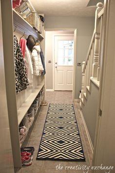 Pocket : Narrow Hallway Built-In Wall Mudroom (DIY)..