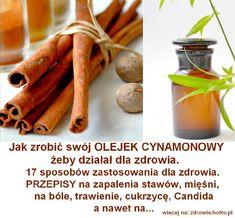 Cynamon i oliwa oddzielnie dają wielkie korzyści dla zdrowia a co dopiero gdy są połączone. Już od czasów starożytnych cynamon był bardzo cenny, a nawet droższy niż złoto w handlu między Europą a Orientem. Był przechowywany i transportowany pod nadzorem uzbrojonych. Olejek cynamonowy ma wspaniały zapach i smakuje niesamowicie. Podobne artykuły, które również interesują innych: loading... // Wykaz zdrowotnych zastosowań cynamonowego olejku jest bardzo wiele, a tutaj kilkanaście z nic...