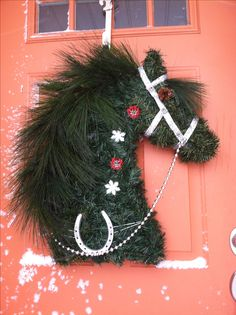 Homemade horse wreath