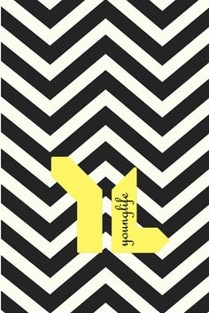 iPhone 5 Wallpaper Chevron & YoungLife: Black/Yellow