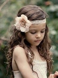 Flower girl hair love the hair but take the band out and hold the bangs back with the starfish hair clip