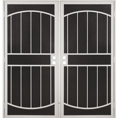 Gatehouse Gibraltar White Steel Surface Mount Double Security Door (Co