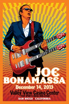 Commemorative Poster for Joe Bonamassa concert tonight! Artwork by Mel Marcelo. #joebonamassa