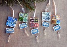 Portugal Antique Tile Replica Azulejo Ornament by Atrio on Etsy,