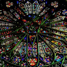Amiens, France Cathedral Rose Window Also called Catherine Windows after St. Catherine of Alexandria who was sentenced to be executed on a spiked wheel.