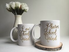 A personal favorite from my Etsy shop https://www.etsy.com/listing/280006302/school-grind-glossy-white-coffeetea-mug Pharm, Med,Nursing, Vet, PT, PA, Dental, Law Grad Gifts