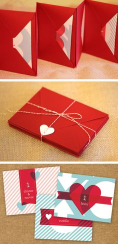 Valentine's Day love coupons. It's not too late to make these for your sweetie!