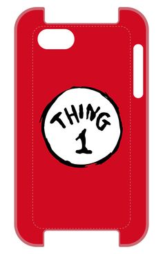 Dr Seuss phone case: Thing 1 at Red Bubble
