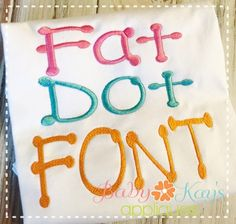 """Fat Dot - 1"""", 2"""" & 3""""; Upper & Lower   FREE FROM BABY KAY'S"""