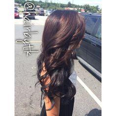 Chocolate hair color  with dark brown/black underneath