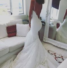 @madewithlovebridal really never disappoints! Their low backs are everything! Can't wait to get the Asha in and see it on our brides!! #madewithlovebridal #loveandlace #bride #lowback #lace #wedding #weddingdress #romantic #bridal